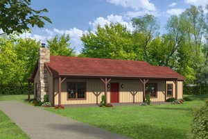 Country Exterior - Front Elevation Plan #932-76