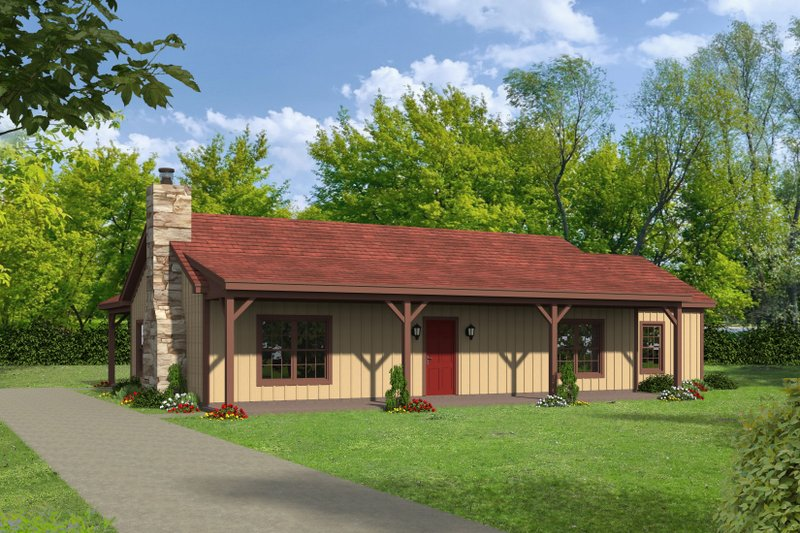 Home Plan - Country Exterior - Front Elevation Plan #932-76