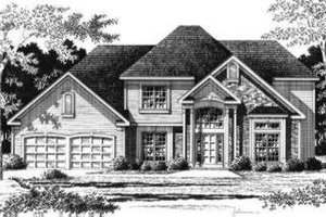 Traditional Exterior - Front Elevation Plan #328-125