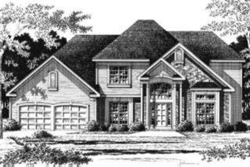 Traditional Style House Plan - 3 Beds 2.5 Baths 2708 Sq/Ft Plan #328-125