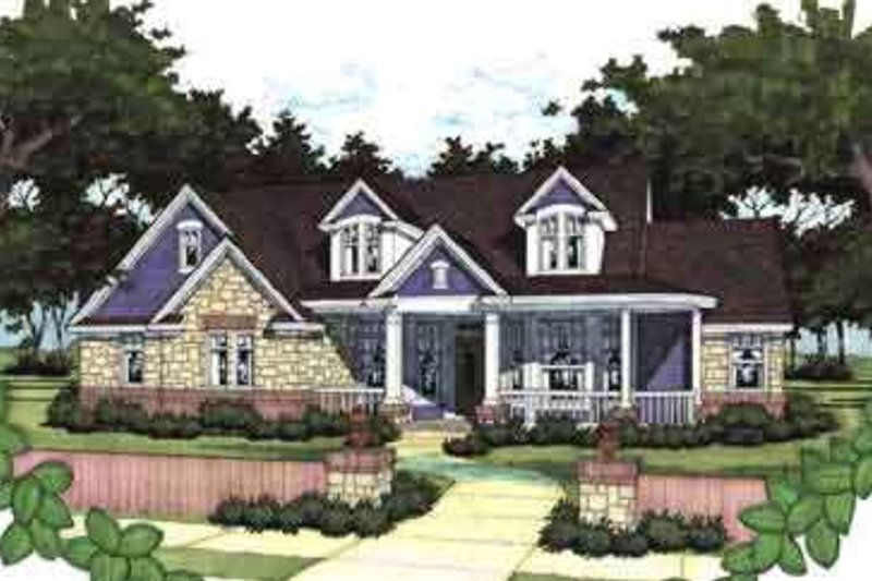 Farmhouse Style House Plan - 3 Beds 3 Baths 2919 Sq/Ft Plan #120-139 Exterior - Front Elevation