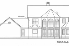 Home Plan Design - Country Exterior - Rear Elevation Plan #20-843
