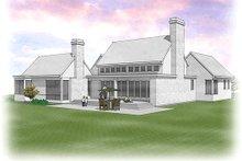 Dream House Plan - Modern Exterior - Rear Elevation Plan #48-478