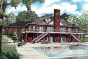 Southern Style House Plan - 5 Beds 3.5 Baths 5050 Sq/Ft Plan #17-629 Exterior - Rear Elevation