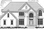 European Style House Plan - 4 Beds 4.5 Baths 4373 Sq/Ft Plan #67-623 Exterior - Front Elevation