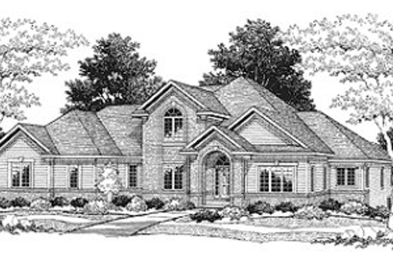 Traditional Style House Plan - 3 Beds 2.5 Baths 2783 Sq/Ft Plan #70-443 Exterior - Front Elevation