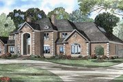 European Style House Plan - 4 Beds 6 Baths 6388 Sq/Ft Plan #17-441 Exterior - Front Elevation