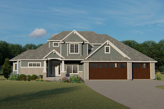 Craftsman Exterior - Front Elevation Plan #1064-29