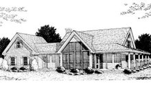 Home Plan - Country Exterior - Rear Elevation Plan #20-146