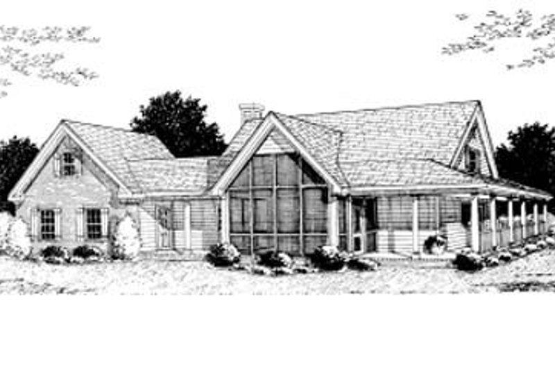 Country Exterior - Rear Elevation Plan #20-146 - Houseplans.com