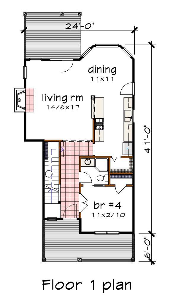 Craftsman Floor Plan - Main Floor Plan #79-304