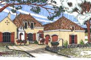 European Style House Plan - 4 Beds 3.5 Baths 2820 Sq/Ft Plan #76-106 Exterior - Front Elevation