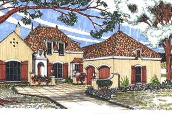European Exterior - Front Elevation Plan #76-106