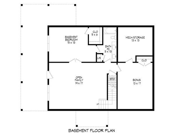 Dream House Plan - Farmhouse Floor Plan - Lower Floor Plan #932-387