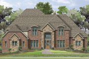 European Style House Plan - 4 Beds 3.5 Baths 5884 Sq/Ft Plan #1057-3 Exterior - Front Elevation