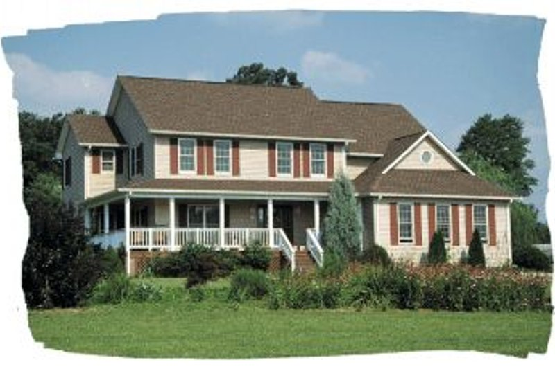 Traditional Exterior - Front Elevation Plan #20-271 - Houseplans.com