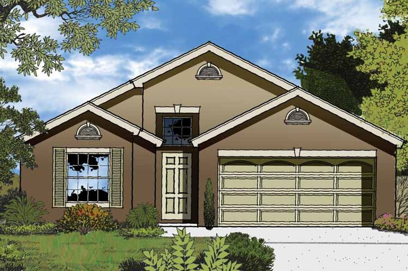Country Exterior - Front Elevation Plan #1015-35 - Houseplans.com