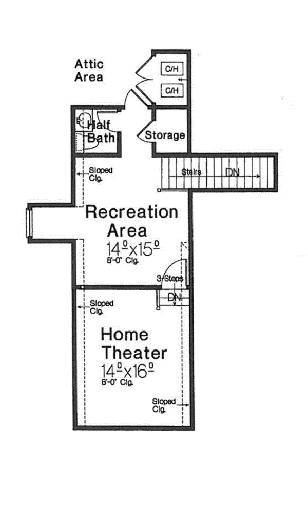 Country Floor Plan - Other Floor Plan Plan #310-1270