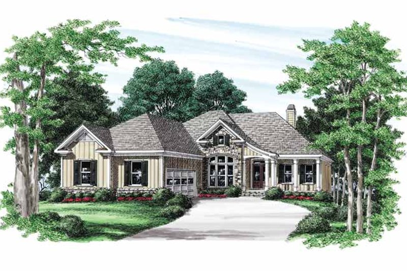 Craftsman Exterior - Front Elevation Plan #927-566