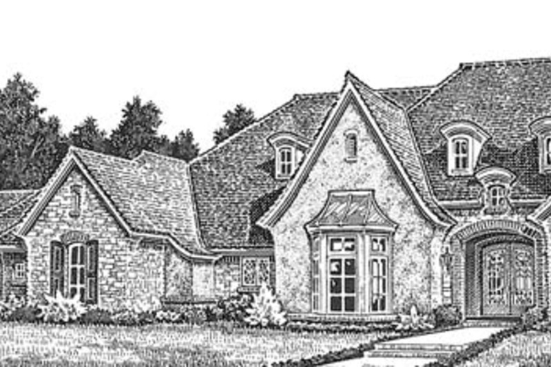 European Exterior - Front Elevation Plan #310-1260 - Houseplans.com