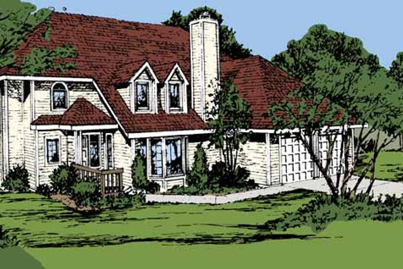 Contemporary Exterior - Front Elevation Plan #320-791