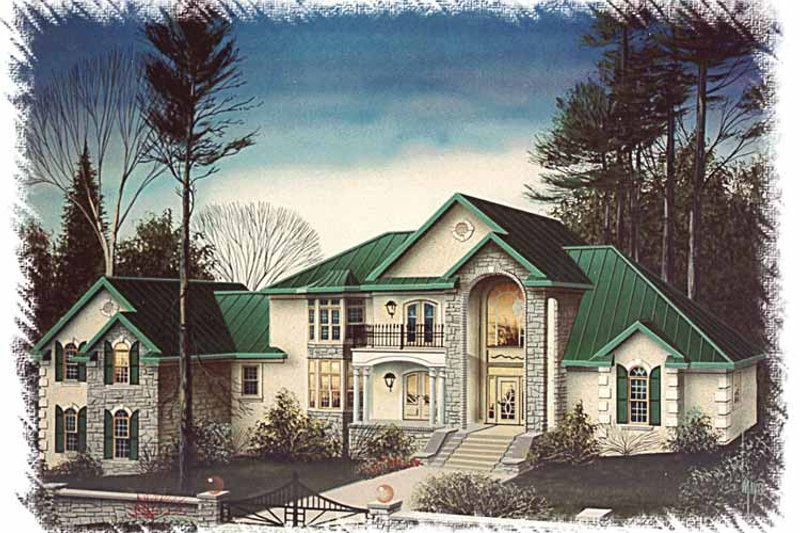 Country Exterior - Front Elevation Plan #15-362 - Houseplans.com