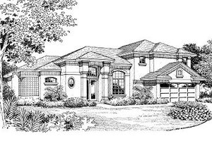 European Exterior - Front Elevation Plan #417-173