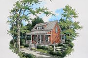 Cottage Style House Plan - 3 Beds 2 Baths 1655 Sq/Ft Plan #45-317 Exterior - Other Elevation