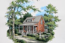 House Plan Design - Cottage Exterior - Other Elevation Plan #45-317