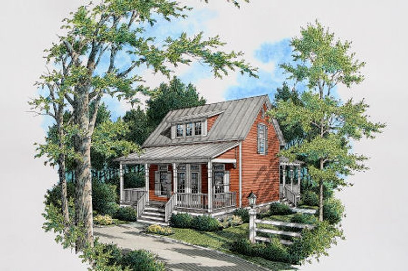 Cottage Exterior - Other Elevation Plan #45-317 - Houseplans.com