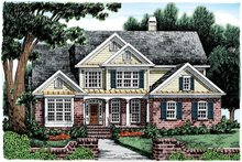 Home Plan - Country Exterior - Front Elevation Plan #927-582