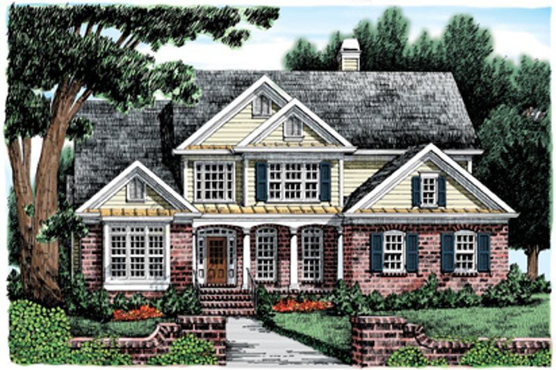 Country Exterior - Front Elevation Plan #927-582