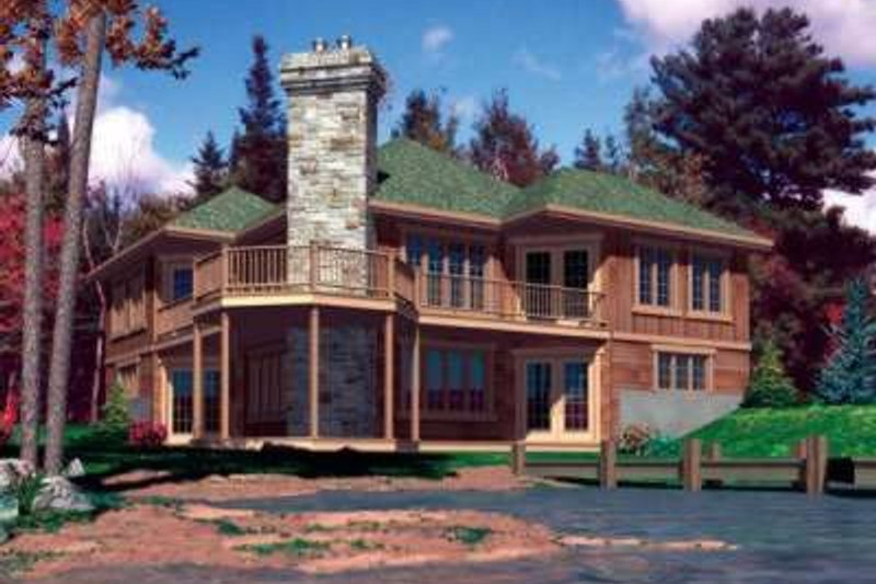 Traditional Style House Plan - 3 Beds 2 Baths 2222 Sq/Ft Plan #138-103 Exterior - Front Elevation