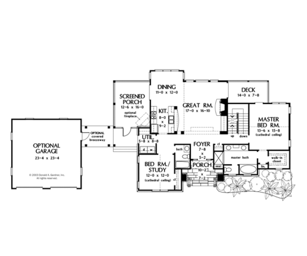 Craftsman Floor Plan - Main Floor Plan Plan #929-902