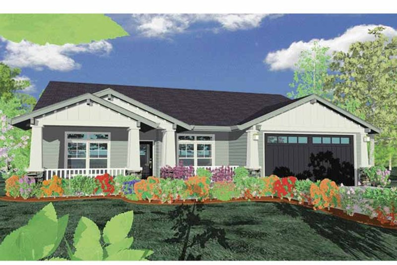 Traditional Exterior - Front Elevation Plan #509-198 - Houseplans.com
