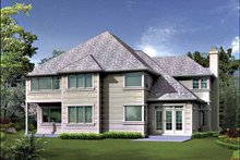 Dream House Plan - Traditional Exterior - Rear Elevation Plan #132-425