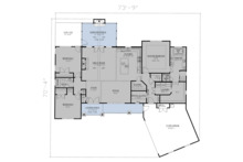 Craftsman Floor Plan - Main Floor Plan Plan #437-101