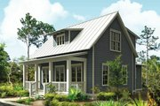 Cottage Style House Plan - 3 Beds 2.5 Baths 1687 Sq/Ft Plan #443-11 Exterior - Front Elevation