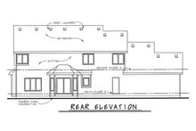 Home Plan - Craftsman Exterior - Rear Elevation Plan #20-2122
