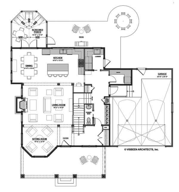 Traditional Floor Plan - Main Floor Plan Plan #928-299