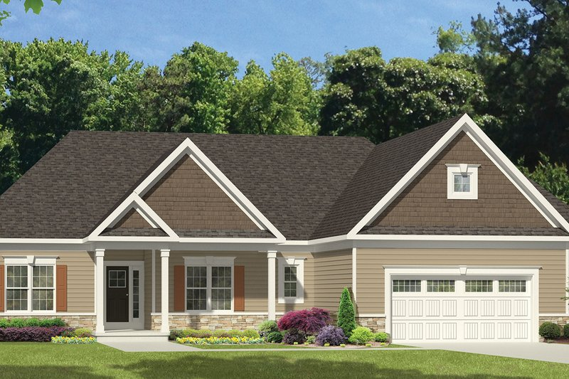 Ranch Exterior - Front Elevation Plan #1010-108 - Houseplans.com