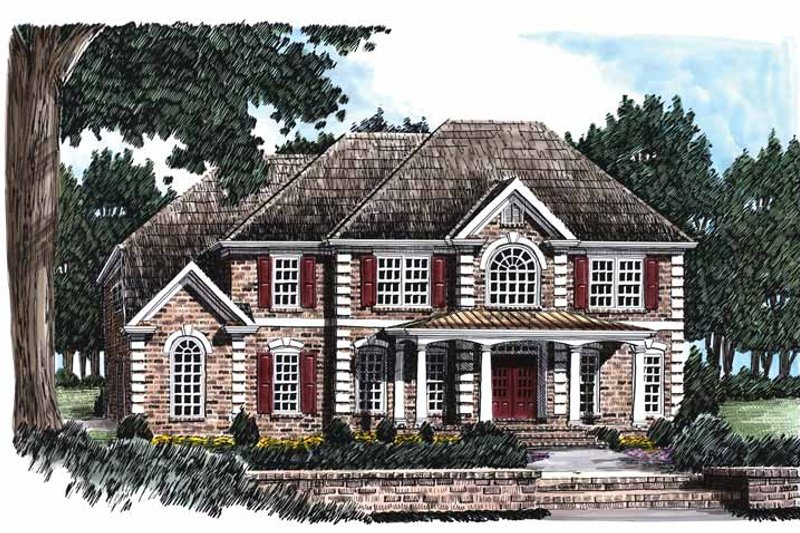Colonial Exterior - Front Elevation Plan #927-490