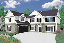 Country Exterior - Front Elevation Plan #509-364