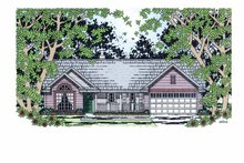 Country Exterior - Front Elevation Plan #42-596
