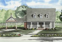 Colonial Exterior - Front Elevation Plan #17-2861