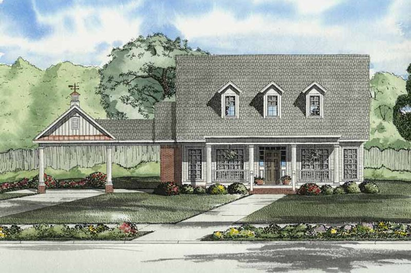 House Plan Design - Colonial Exterior - Front Elevation Plan #17-2861
