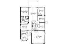 Mediterranean Floor Plan - Main Floor Plan Plan #417-824