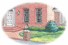 Colonial Exterior - Front Elevation Plan #1040-17