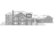 House Plan Design - European Exterior - Rear Elevation Plan #5-431