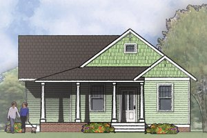 Architectural House Design - Craftsman Exterior - Front Elevation Plan #936-26